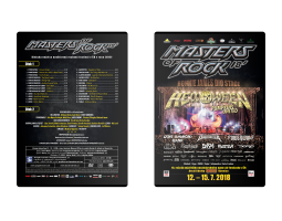 Double DVD Masters of Rock 2018