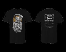 Women's T-Shirt ROA - black with gold