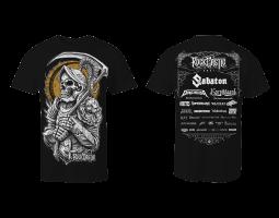 Men's T-Shirt Rock Castle - black with gold