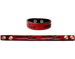 Leather bracelet MOR red thin
