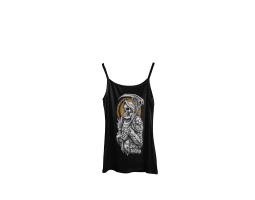 Women's top ROA - black with gold