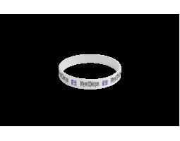 Silicone bracelet ROA - white
