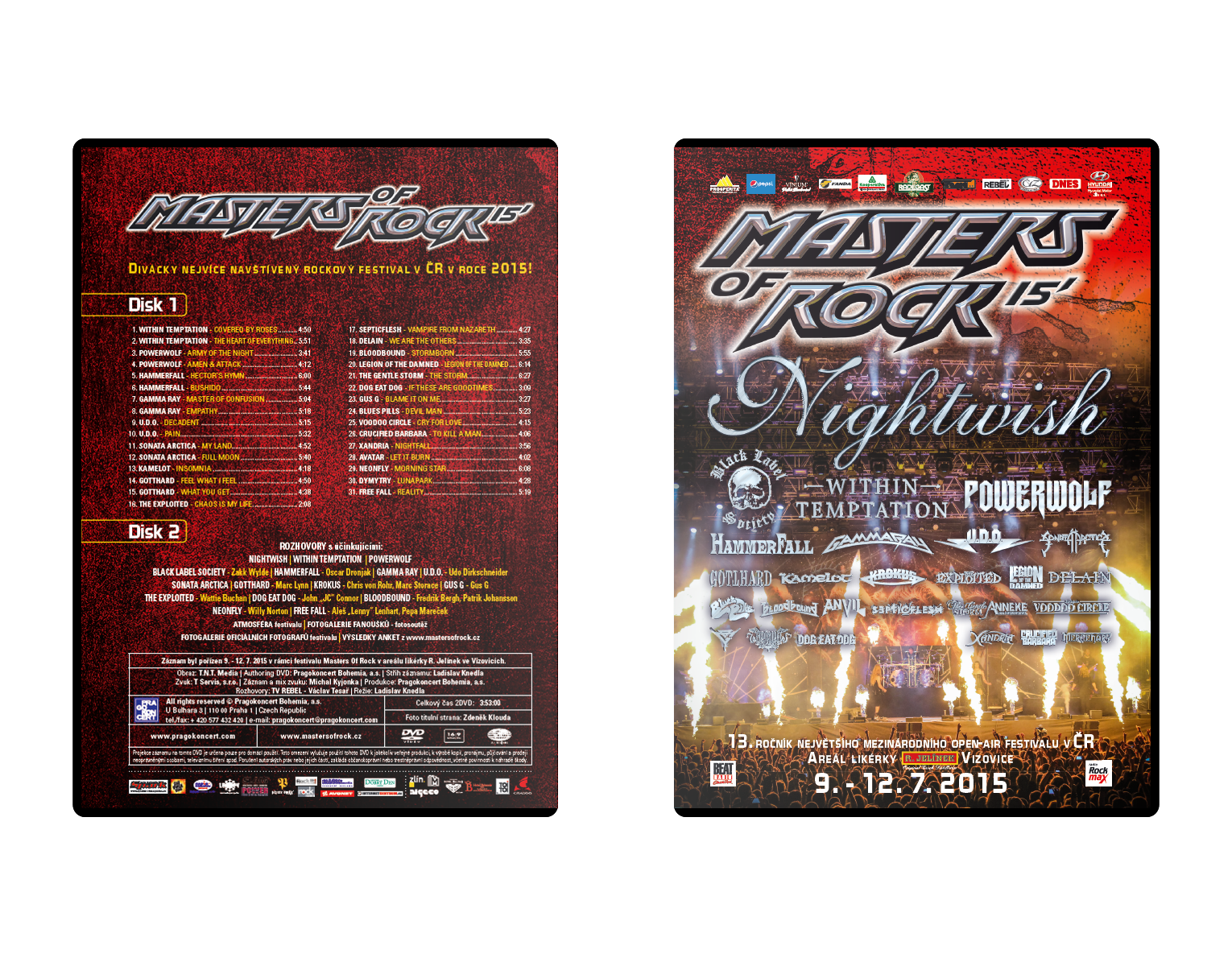 Double DVD Masters of Rock 2015