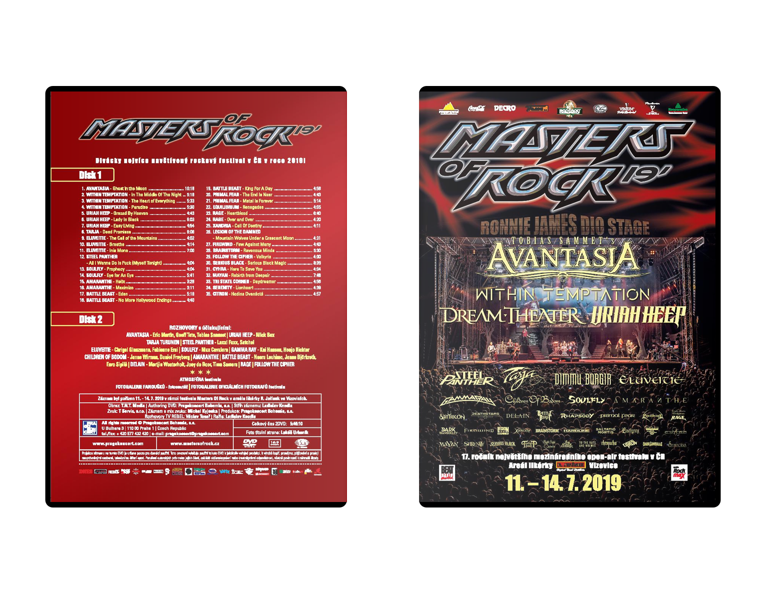 Double DVD Masters of Rock 2019